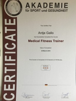 Medical Trainer Certificate