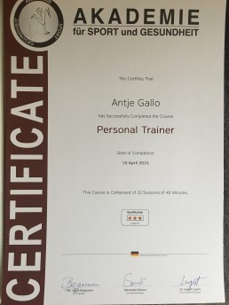 Personal Trainer Certificate