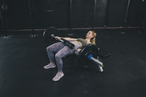 Woman performing a Hip Thrust
